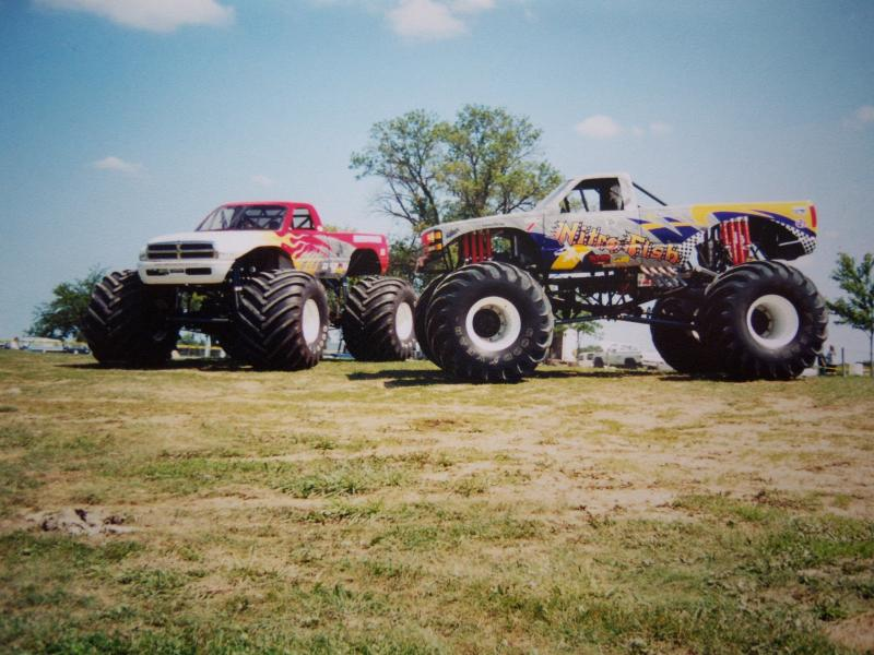Here s a few of our custom painted monster trucks