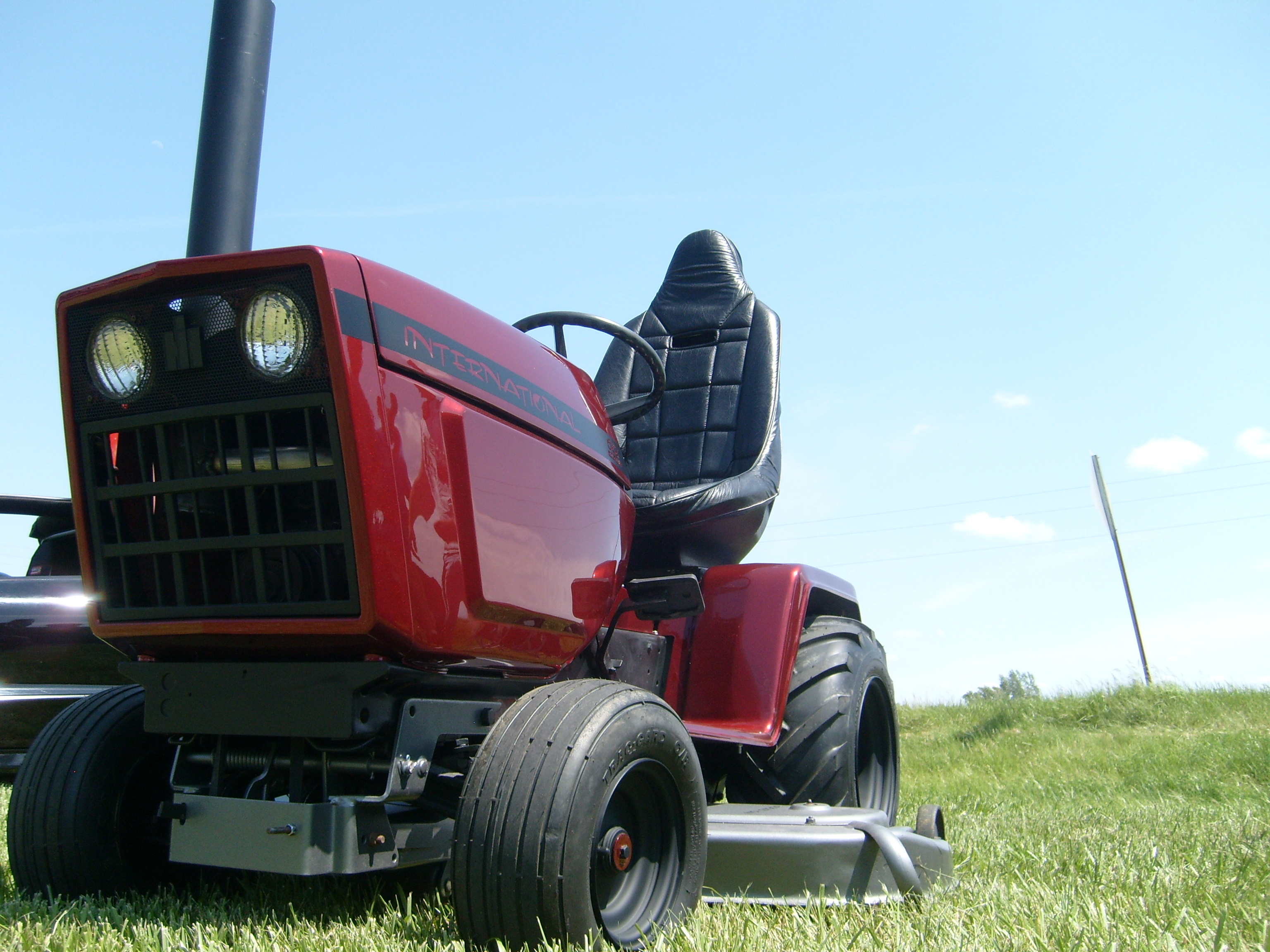 Tractor Mowing Painting : Kocher s custom paint shop rides